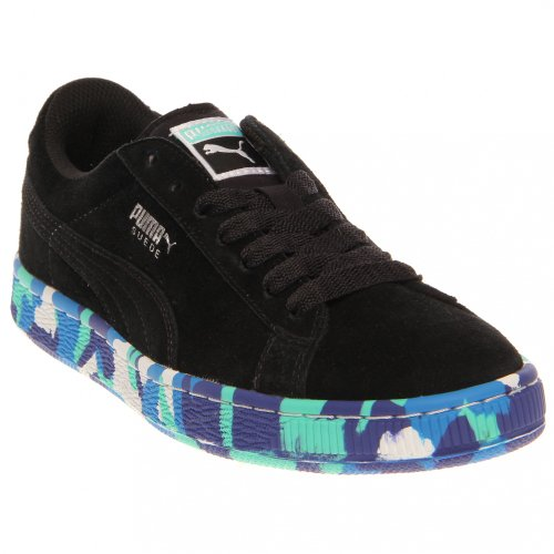 PUMA Suede Rubber Mix JR Sneaker (Little Kid/Big Kid),Black/Puma  Silver/Multi Color,5.5 M US Big Kid - Buy Online in UAE. | Shoes Products  in the UAE - See ...