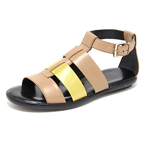 buy popular 8aa5d 96ca8 Sandali 50962 Giallo Hogan Femmes Ibiza Chaussures Donna Marrone AqtxI
