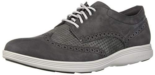Cole Haan Men's Grand Tour Wing Ox Oxford, Magnet Weave/Marine Blue, 10.5