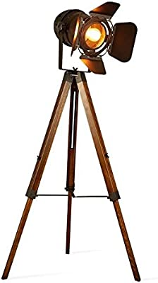 Propswithout Lamp Teatre Light Floor Decoluce Movie Decor Spotlight cinema Wooden Edison Retro nautical Tripod industrial Vintage Fixtures wiTXkPZOu
