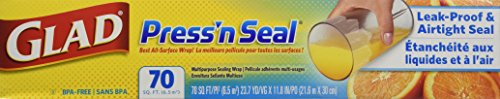 Glad Press'n Seal Sealable Plastic Wrap with Griptex , 70 sq