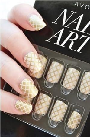 Avon nail art check mate 24 press on nails amazon beauty avon nail art check mate 24 press on nails prinsesfo Image collections