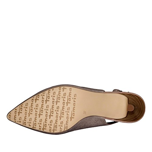 Shoes Comfortable Slingbacks Women 38 29607 conscious For Summer Tamaris Womens 1 Rose Fashion 1 Metallic Women's 5UnAxRq