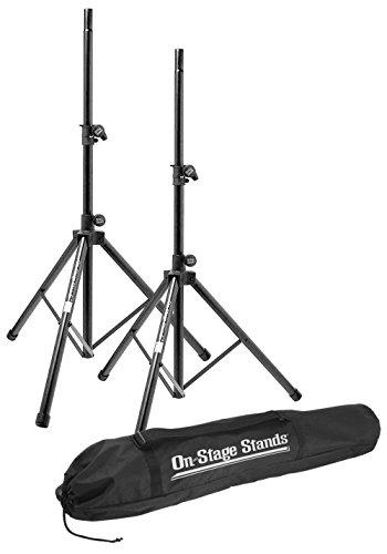 On Stage SSP7900 All Aluminum Speaker Stand Package with Bag - On Stage Speaker Stand Bag