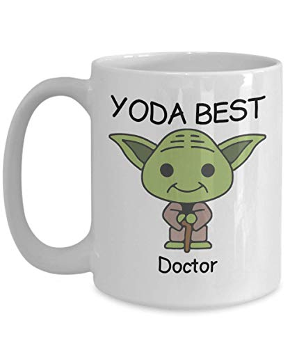 Novelty Gift Mug for Star Wars Fans - Yoda Best Doctor - Co-Workers Birthday Present, Anniversary, Valentines, Special Occasion, Dads, Moms, Family, Christmas - Funny Coffee Mug