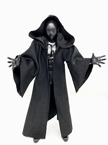 4ec25ed1bc08f FIGLot 1 12 scale black fabric cloak robe for SH Figuarts Star Wars black  series