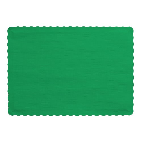 Creative Converting Count Placemats Emerald