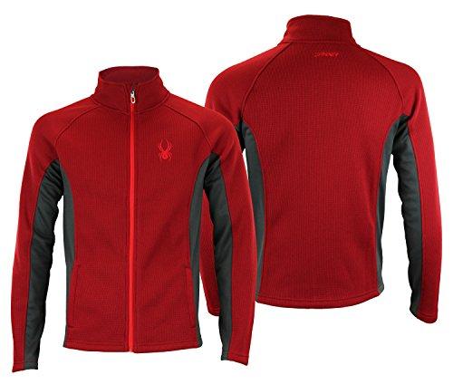 Spyder Mens Full Zip Sweater Dare Devil Red ()