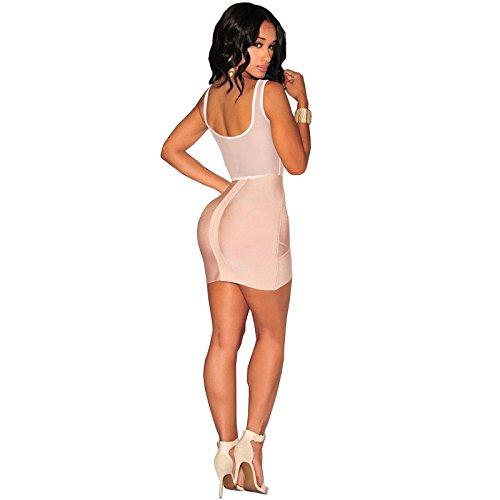 Carolina Dress Body Blanco Floreado Vestidos Ropa a LA Moda Para Mujer De Fiesta y Noche Elegante Casuales VE0031 at Amazon Womens Clothing store: