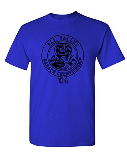 Cobra Kai Karate Championship - 80's Movie - Mens Cotton T-Shirt, S, -