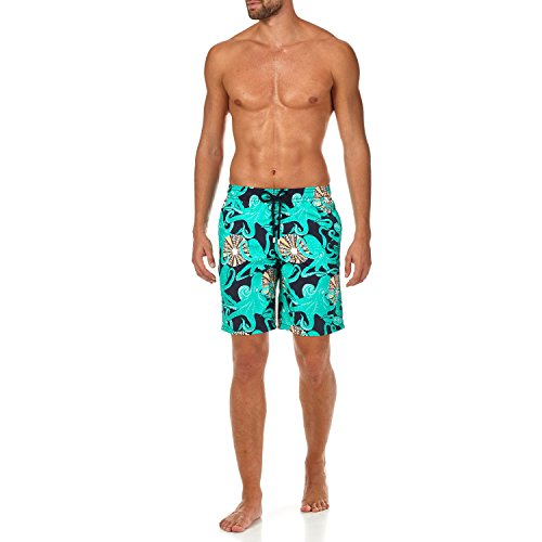 Vilebrequin Octopussy et Coquillages Long Cut Swim Shorts - Men - Navy - XL by Vilebrequin