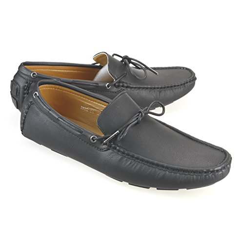 Opera Loafers Shoes Plain Mens 1771 On Slip Shoes Black Loafer Driving Lucius Toe AN Bit 8UYUP