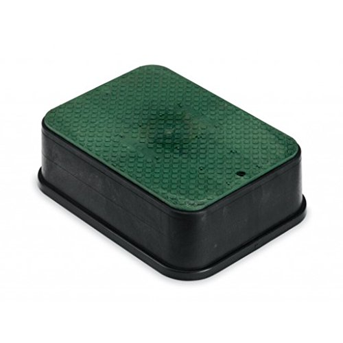 Rainbird Jumbo Valve Box with Lid, Black, 6