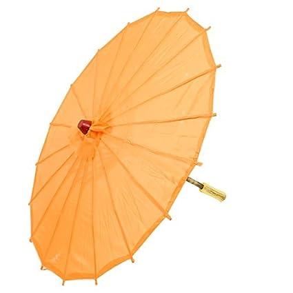 DealMux de Asia Oriental Baile Japonés Chino mango de madera Paraguas Parasol 22 Dia de Orange