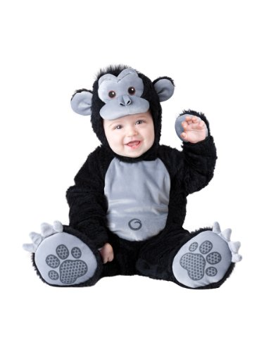 InCharacter Costumes Baby's Goofy Gorilla Costume, Silver/Black, Large