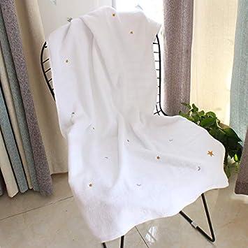 GBSHOP Toalla de bañoLuna y Toalla de baño Bordada, algodón Puro, Adulto Suave Masculino