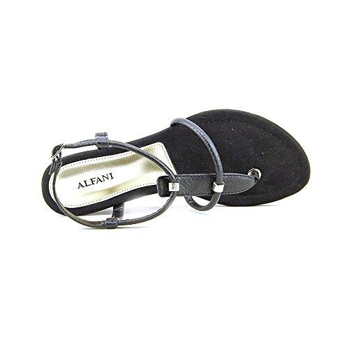 Alfani Castane Women Black Thong Sandal RYfcOfS
