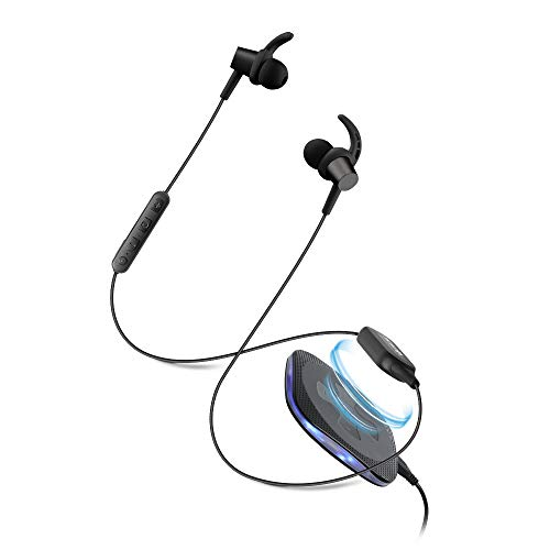 Soundlogic Freedom in Ear Sports Earbuds Bluetooth Wireless Earphone IPX4 Sweat and Water Resistant with Deep Bass and inbuilt Mic Headphone Voice Assistant with Long Battery Life Black