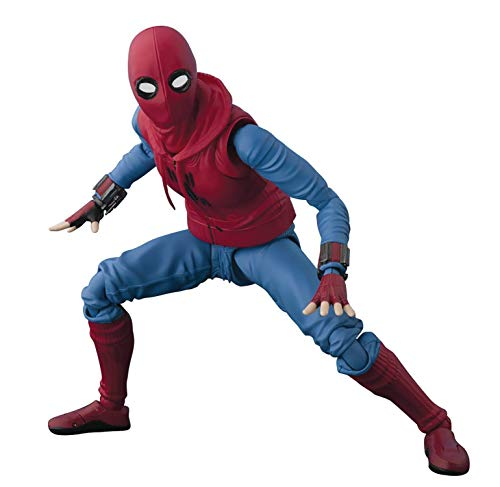 Tamashii Nations Bandai S.H. Figuarts Spider-Man (Homemade Suit) & Optional Act Wall Set Action Figure ()