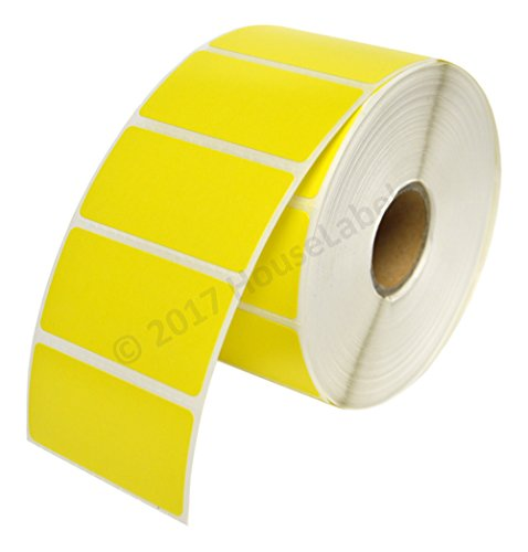 10 Rolls 13000 Labels, Zebra Eltron Compatible Direct Thermal Yellow 2 x 1 Labels (2
