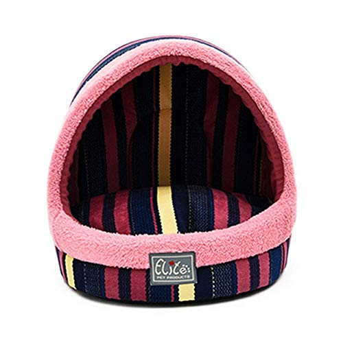 Showking Cuddly Dog Sofa Dog Cat Warm Winter Bed Victorian Stripes House Soft Luxury Basket for Pets Puppy ()