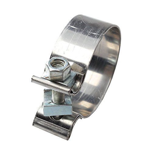 "BLACKHORSE-RACING 1.75"" 1 3/4"" Stainless Steel Accuseal Clamp Butt Joint"