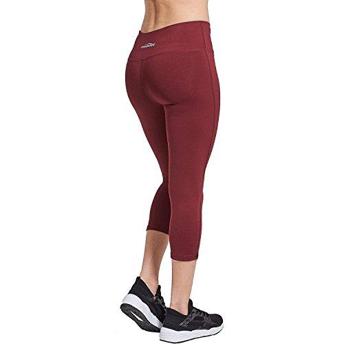 Allenamento Leggings 3 S Coolomg Rosso Donna Compressione Da Sport M L Yoga Lunghi 4 Xl Pantaloni A BCw4q