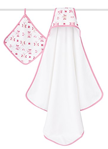 Infant aden + anais Classic Hooded Towel Set - Pink