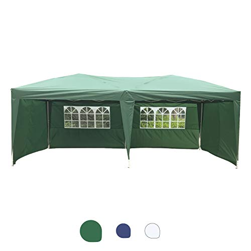 Peach Tree Canopy Wedding Party Tent Heavy Duty Outdoor Gazebo Green (10x20+4walls)