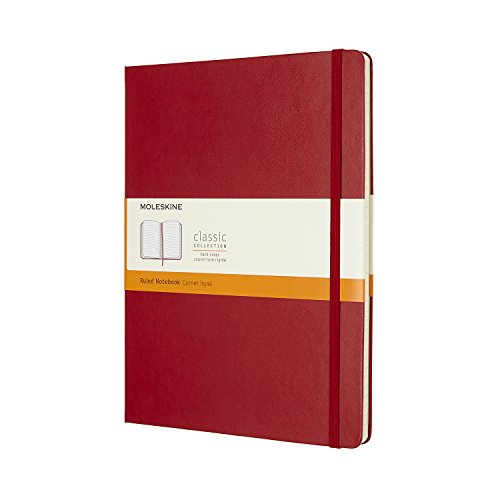 Moleskine Classic Notebook XL Ruled Scarlet Red Hardcover (8055002855082)