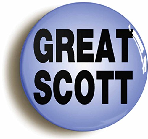 Great Scott Eighties Button Pin (Size Is 1inch Diameter) Geek Sci Fi - Back To The Future Party Costume Ideas