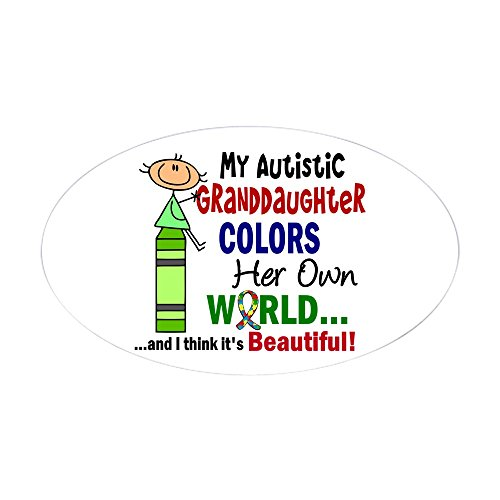 db24adf1df9d CafePress - Colors Own World Autism - Oval Bumper Sticker Car Decal