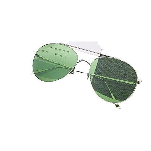 de sol Gafas aviadores gafas de Shop hombres metálicas de Verde y mujeres Gafas 6 sol sol XP4wqg