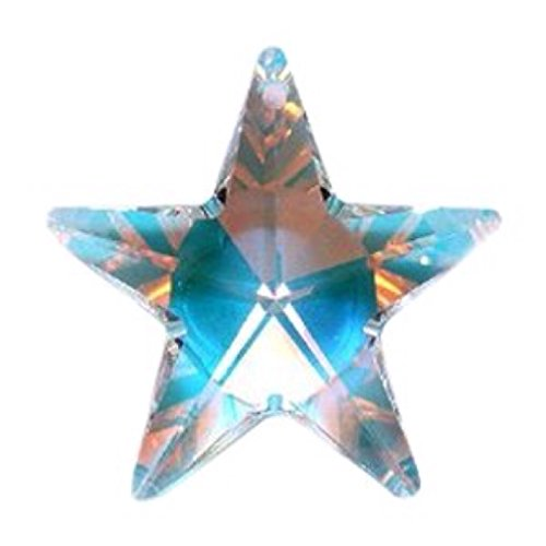 SWAROVSKI ELEMENTS Crystal #6714 Star Pendant Crystal AB 40mm (1)
