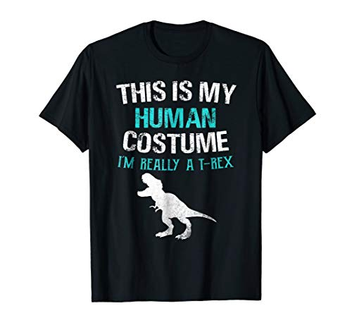 Funny I'm Really A T Rex Dinosaur Halloween Shirt Costume]()