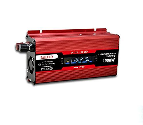 2 opinioni per SAILFLO Veicolo 1000 W Car Power inverter converter DC 12 V to AC 220 V USB
