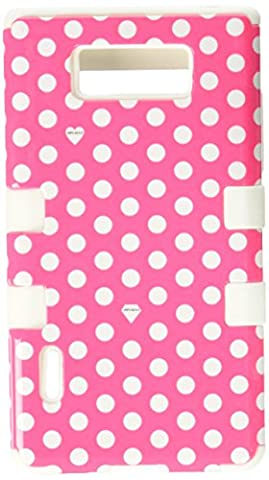 MYBAT Hybrid Phone Protector Cover for LG Splendor/US730/Venice/Optimus Showtime/L86C - Carrying Case - Retail Packaging - Dots (Phone Cases For Lg L86c Optimus)