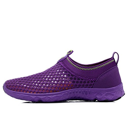 Krimus Womens Mens Water Shoes Leggero Quick Dry Aqua Walking Shoes Viola