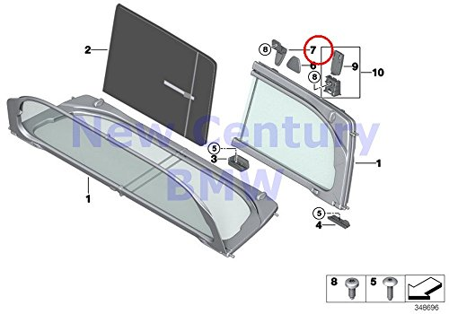 BMW Genuine Wind Deflector Upper Right Travel Stop 428i 428iX 435i 435iX M4