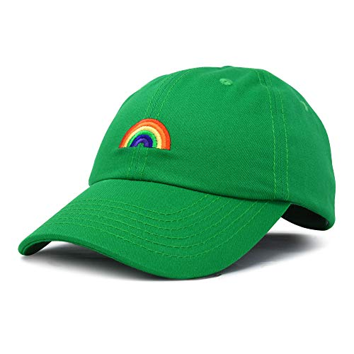 (DALIX Rainbow Baseball Cap Womens Hats Cute Hat Soft Cotton Caps in Kelly Green)