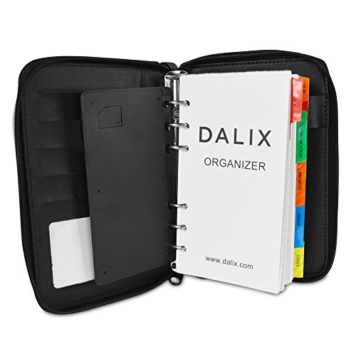 Dalix Personal Organizer Planner W File Divider And