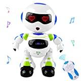 LKKLILY Intelligent & Charismatic Dancing Remote Control Robot with Music and Lights for Children| Disco & Cheering RC Robot ,Robots for Kids (Green)