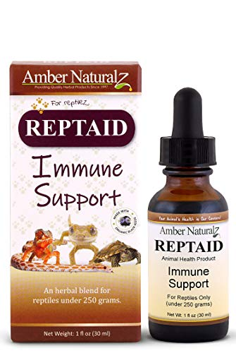 AMBER NATURALZ – REPTAID – Immune Support – for Reptiles Under 250g – 1 Ounce