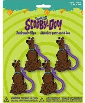 Scooby Doo PVC Figure Party Favors Backpack Clips