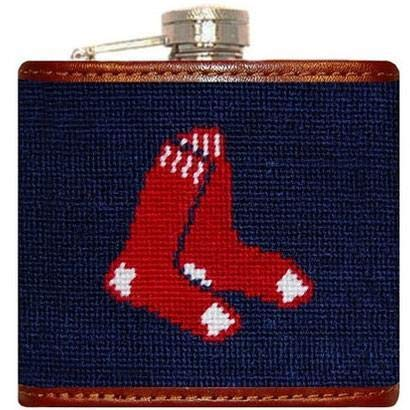 - Red Sox Needlepoint Flask in Navy by Smathers & Branson