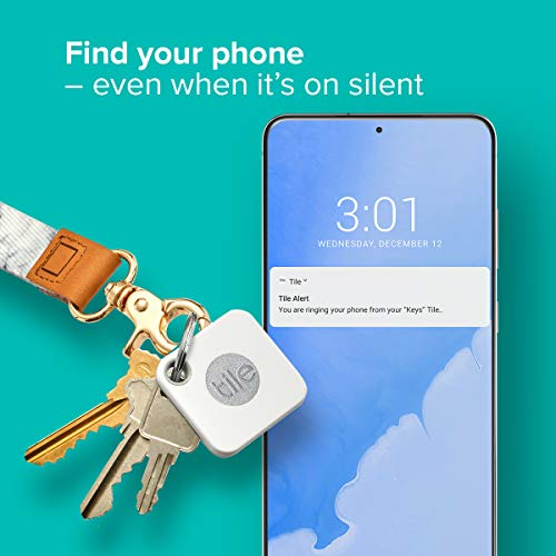 Tile Mate (2020) 1-pack – Bluetooth Tracker, Keys Finder and Item Locator for Keys, Bags and More; Water Resistant with…