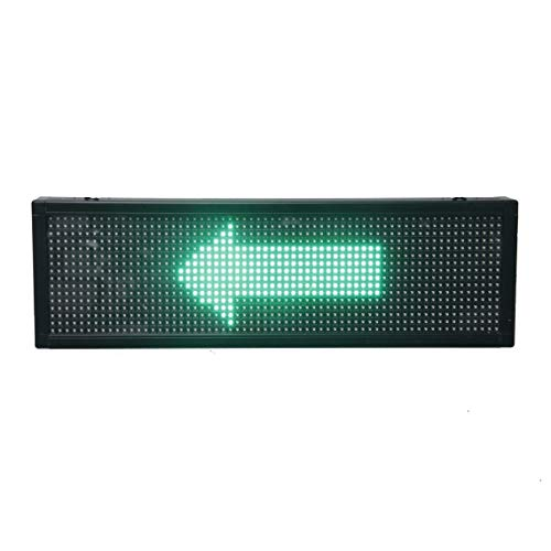 (High Resolution Programmable P10 LED Scrolling Moving Message Display Sign Board Panel for Advertising Business Shop Store Window Wall Decor 26 x 6 inches)