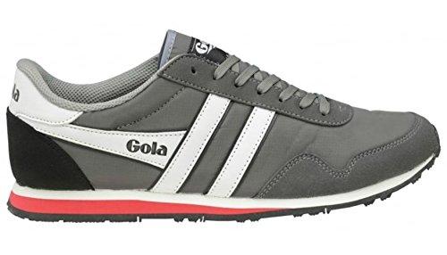 Gola Classics Men's Monaco Trainer, Grey/White/Red (9 D - Medium)