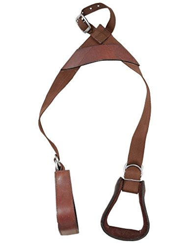 Tough-1 Kids Nylon Slip-On Stirrup Set with Leather Stirrups