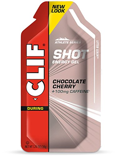 CLIF SHOT - Energy Gel - Chocolate Cherry - (1.2 Ounce Packet, 24 Count)
